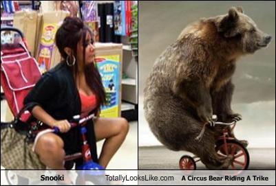 Snooki Totally Looks Like A Circus Bear Riding A Trike