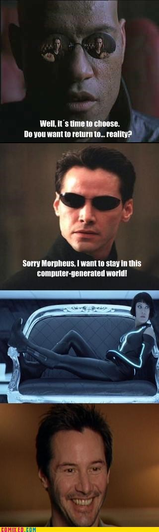 babes,matrix,Morpheus,neo,reality sucks,tron