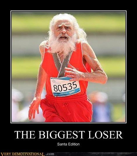biggest loser,marathon,santa,TV,wtf