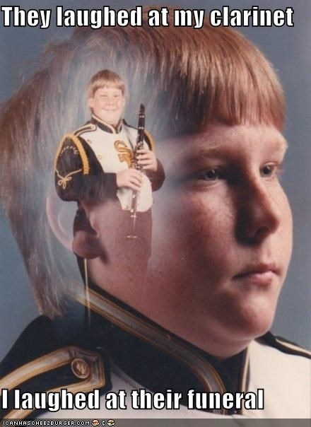clarinet,funeral,PTSD Clarinet Kid,they laughed
