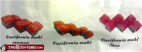 california,engrish,roll,sushi