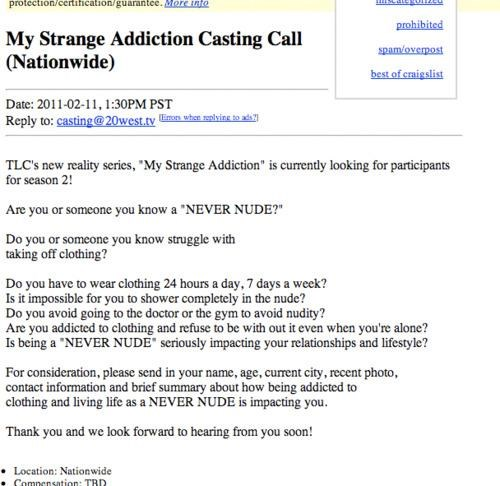 Casting Call of the Day