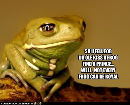 SO U FELL FOR DA OLE KISS A FROG FIND A PRINCE... WELL,  NOT EVERY FROG CAN BE ROYAL