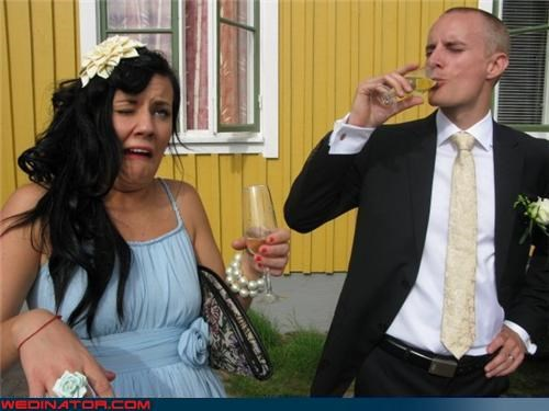 bridesmaid,champagne,funny wedding photos,groomsman,toast