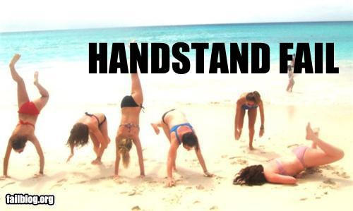 beach,failboat,giggling probably caused,giggling probably caused them to fail,g rated,handstands,outdoors,summer fails