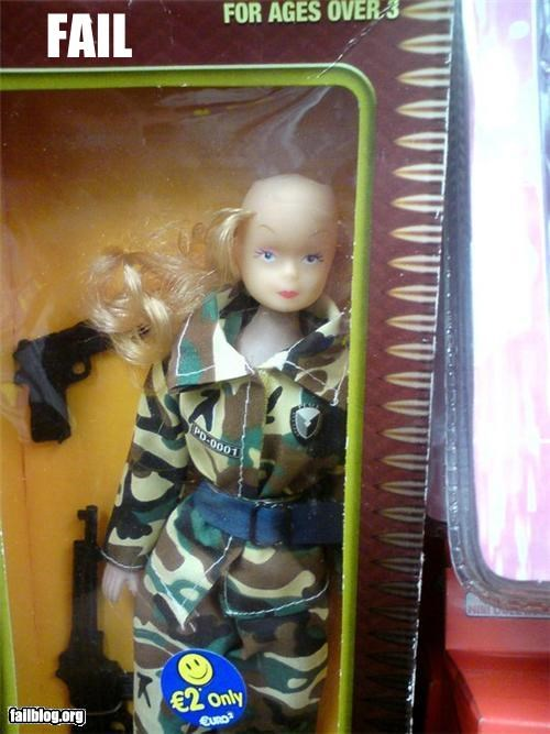 Barbie,dolls,failboat,g rated,haircut,military,thats-so-creepy