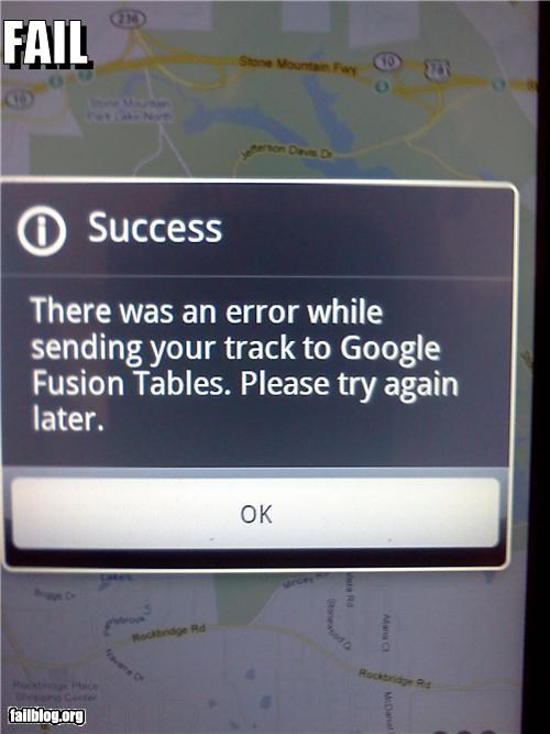 Successful Error Fail