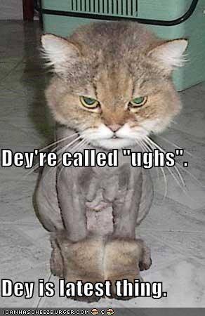 "Dey're called ""ughs"".  Dey is latest thing."
