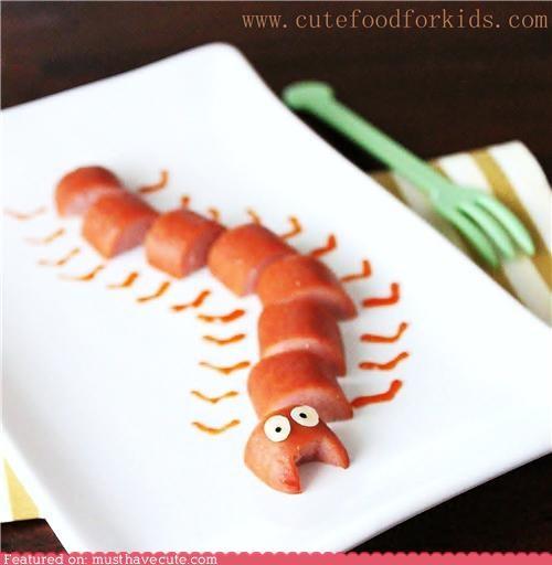 caterpillar,epicute,hot dogs,ketchup