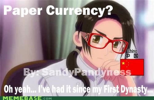Hipster Hetalia: China and Paper Money