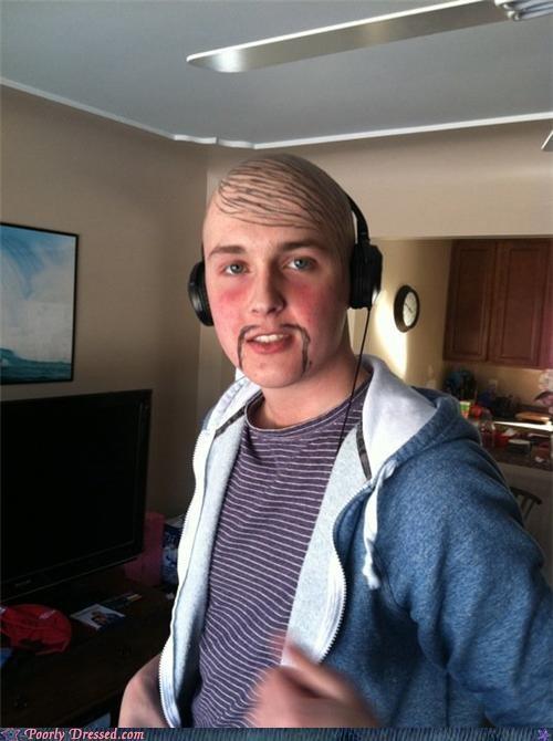 bald,headphones,marker,mustache,sharpie