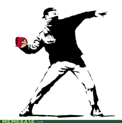 angry birds,animemes,banksy,game,Street Art