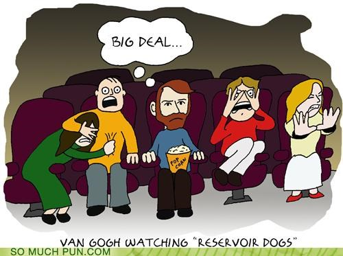 Van Gogh Watching 'Reservoir Dogs'