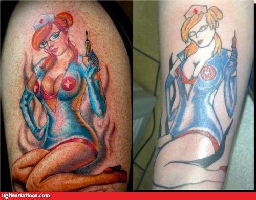 nurses,bad,tattoos,babes,funny