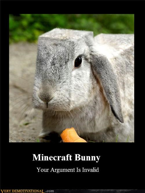 bunny,minecraft,square head,video games,wtf