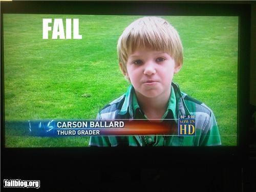 Thurd Grader Fail