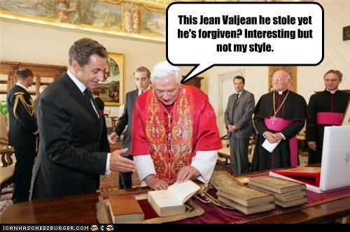 Sarkozy introduces the Work of Victor Hugo to Benedict XVI