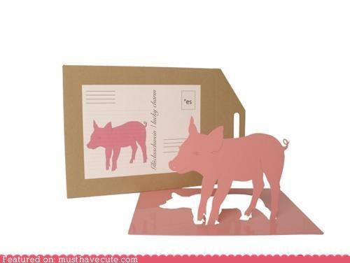 art,card,mail,metal,pig