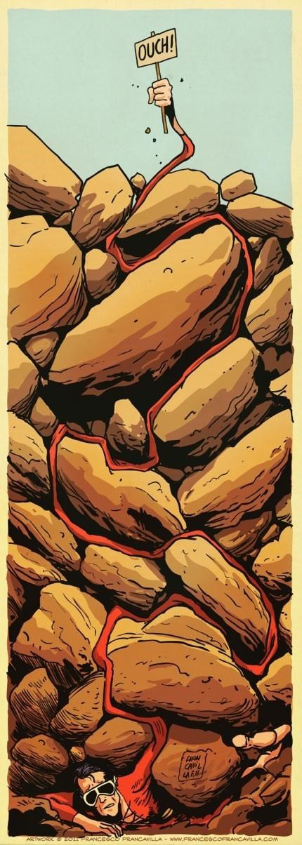 "Plastic Man Stars In ""127 Hours"" Of The Day"