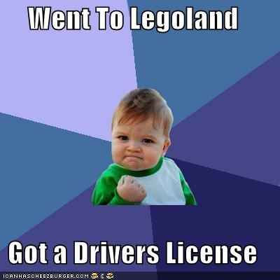 Went to Legoland - Got a Drivers License Meme