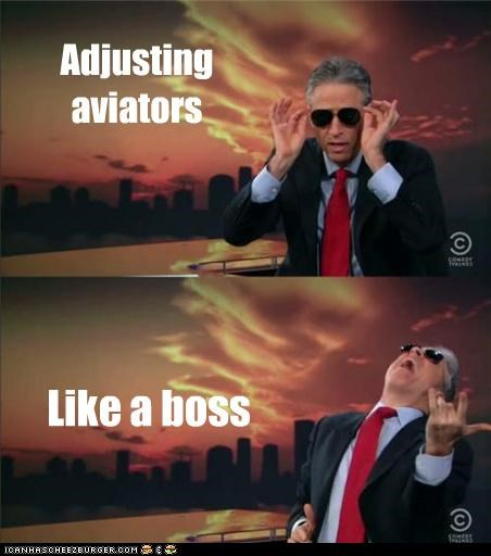 Adjusting aviators