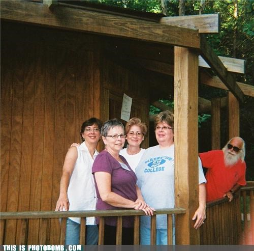Santa on Vacation Photobomb