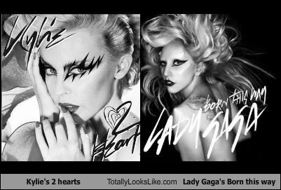 2 hearts,album,album cover,born this way,kylie minogue,lady gaga,musicians