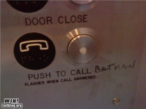 batman,elevator,hacked,sharpie