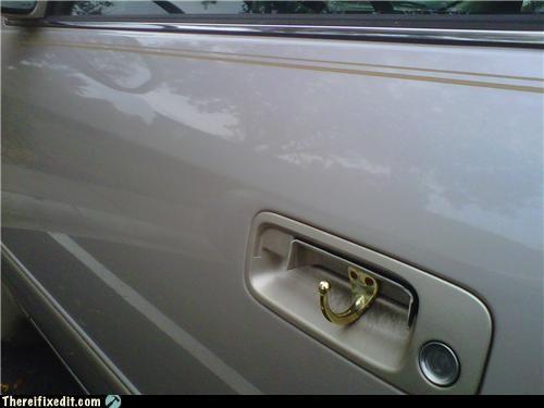 cars,coat hook,door handle,dual use,pretty