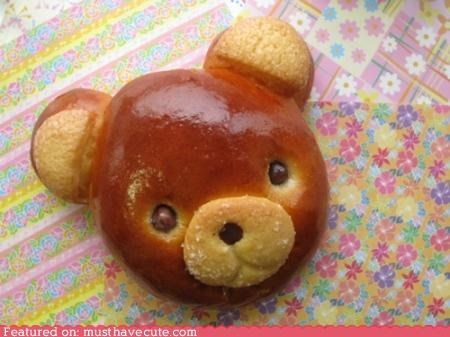 bear,bread,bun,epicute,face,head