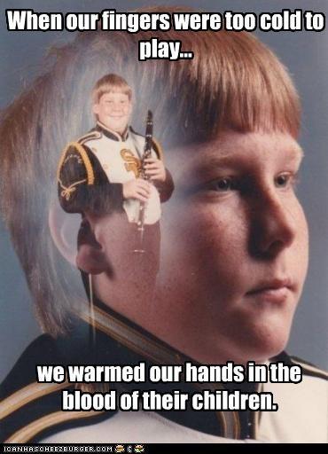 Blood,children,cold,fingers,PTSD Clarinet Kid