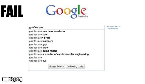 Autocomplete Me: Giraffes are...