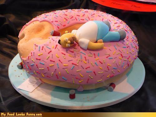 cake,doh,donut,epicute,full,homer,simpsons,sprinkles,too much