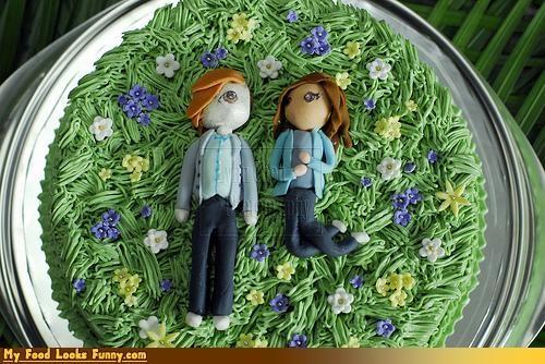 bella,cake,edward,epicute,fondant,meadow,twilight