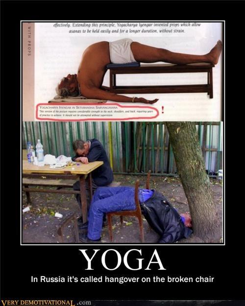 bad idea,passed out,pose,yoga
