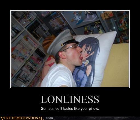 lonley,otaku,Pillow