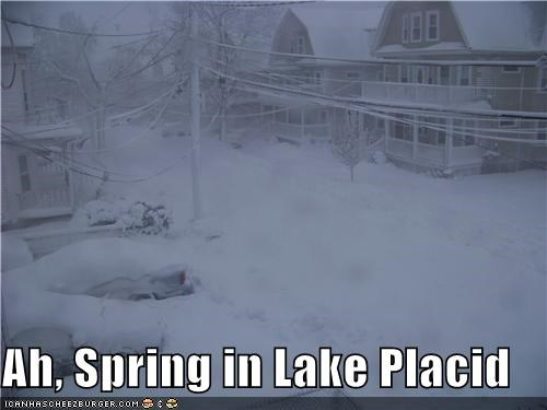 Ah, Spring in Lake Placid