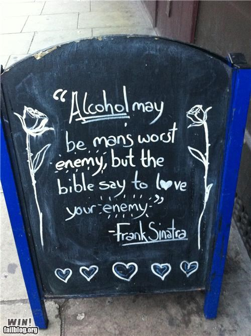 Happy Hour: Sinatra Quote WIN
