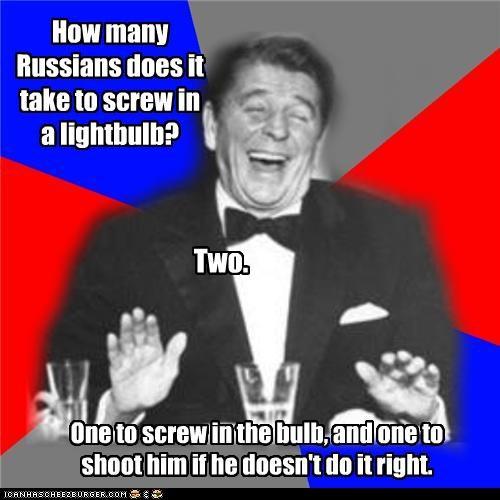 cold war,Ronald Reagan,russians,the gipper