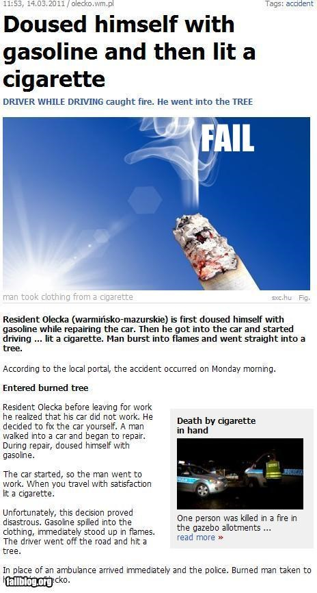 Cigarette Fail