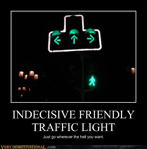 anywhere,green arrow,indecisive,traffic light