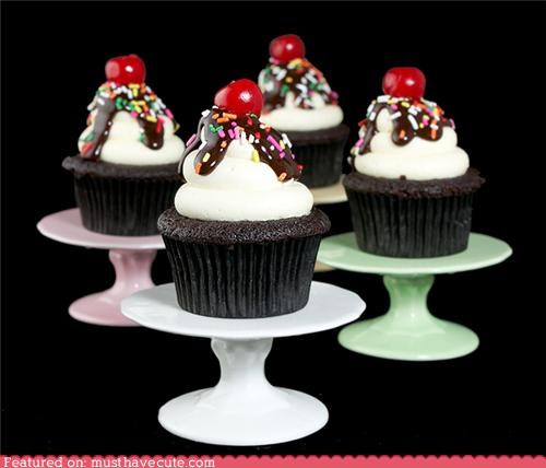 Epicute: Hot Fudge Sundae Cupcakes