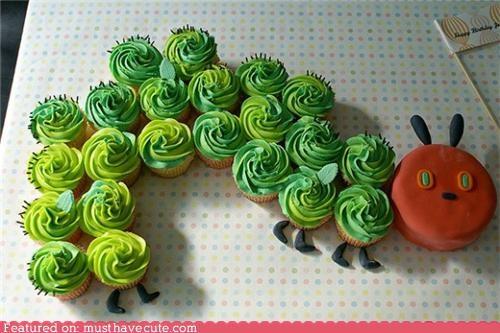 caterpillar,cupcakes,epicute,kids book,very hungry caterpillar