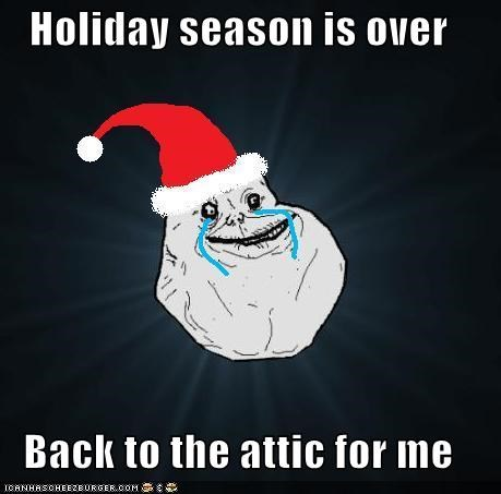 Holiday season is over  Back to the attic for me