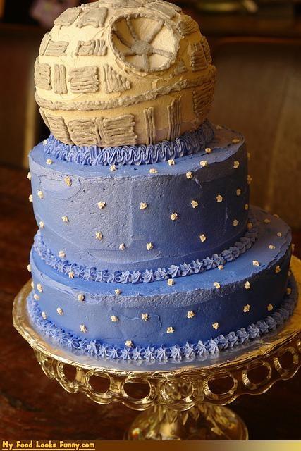 cake,Death Star,frosting,star wars,stars