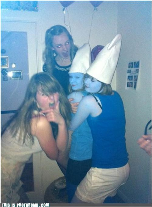 brains,costume,halloween,smurf