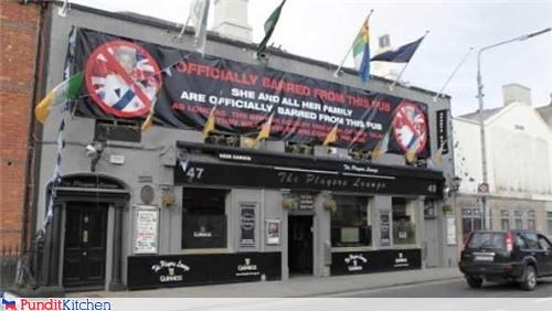 Queen Elizabeth Barred From Irish Pub
