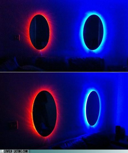 bedroom,decor,mirrors,Portal