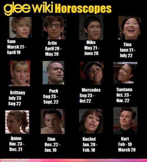 funny,glee,horoscope