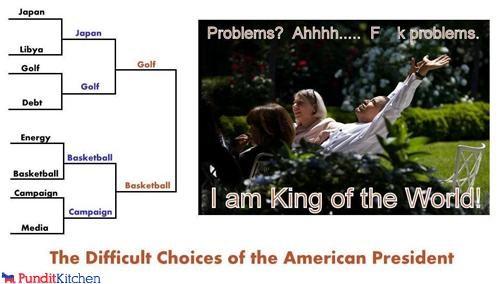 barack obama,bracket,march madness,president,problems